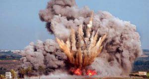 انفجار-دشمة-ذخيرة-في-قاعدة-براك