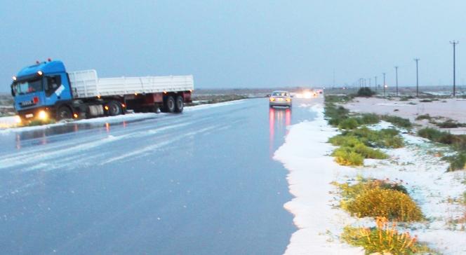 أمطار السبت تعرقل حركة المرور بين مدينتى درنة و طبرق