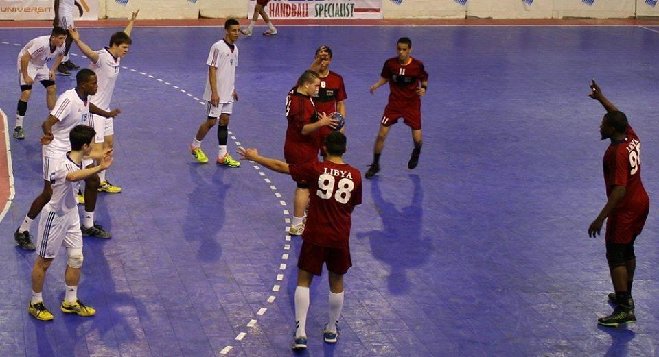 منتخب ليبيا لكرة اليد للناشئين يقابل غينيا في بطولة أفريقيا