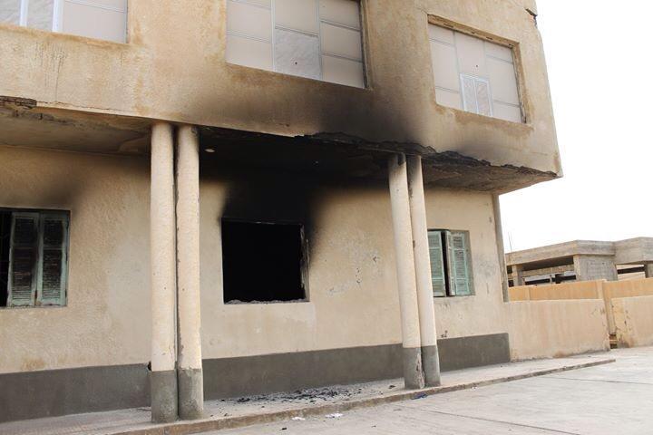 إحراق مدرسة إبراهيم الأسطى بدرنة