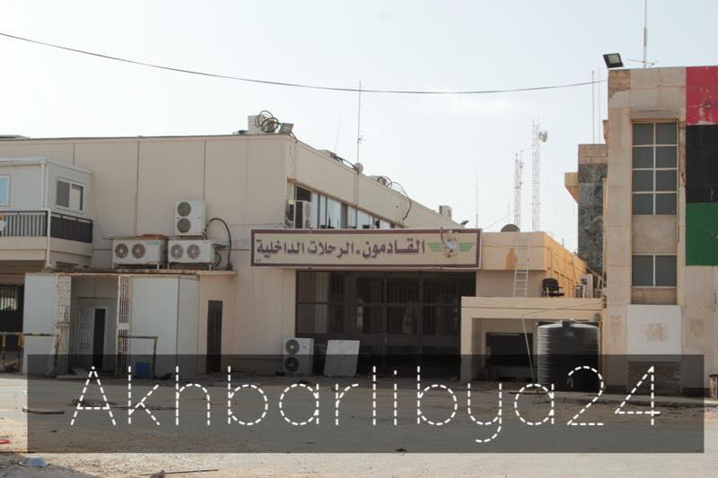 بالصور .. عدسة أخبار ليبيا 24 ترصد خسائر مطار بنينا و القرية