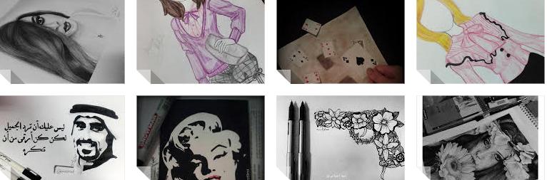 آمنة الجبالي...فنانة موهوبة استطاعت عن طريق لوحاتها تجاوز عالم الحرب ببنغازي
