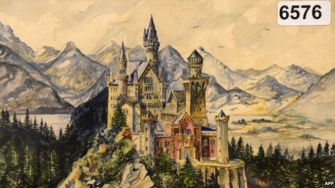 لوحات رسمها هتلر تباع ب286 ألف جنيه استرليني في مزاد