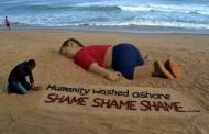 نحات هندي يخلد الطفل السوري الغريق