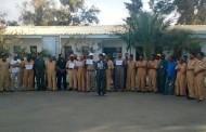 وقفة احتجاجية لمستخدمي حقل السرير النفطي ضد إدارة شركة الخليج العربي للنفط