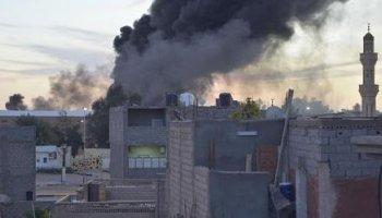 إصابة 13 شخص في بنينا إثر قصفها بصواريخ