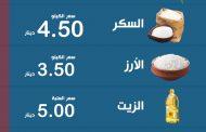 انفوجرافيك يبين متوسط أسعار السلع والخضراوات والفواكه