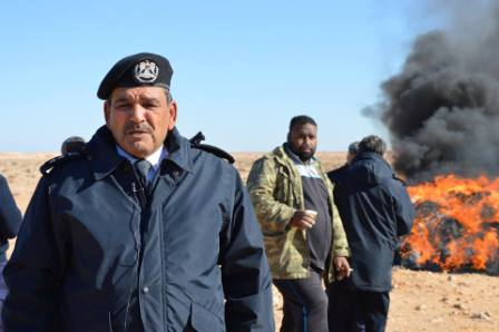 مدير أمن طبرق: تم ضبط وإعدام أكثر من 274 مليون حبة ترمادول خلال 11 شهر