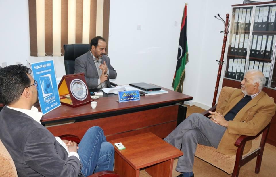الترهوني يزور مكتب الإعلام الثقافة القبة ضمن جولة تفتيشية للمكاتب التابعة للهيئة