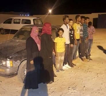 ضبط 10 مهاجرين غير شرعيين