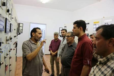 عميد بلدية المرج يزور محطة شركة الكهرباء في المدينة