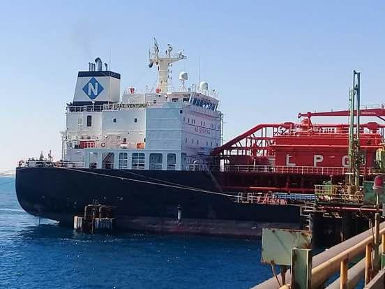 2000 طن من غاز الطهي تصل ميناء الزويتينة البحري