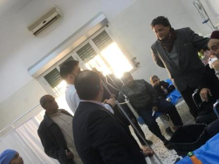 وكيل عام وزارة الصحة يزور مستشفى أم الرزم