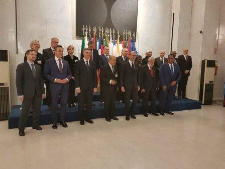 سيالة يشارك في المؤتمر الوزاري في نسخته الثانية في روما