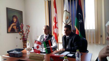 توقيع اتفاقية تعاون في اللغة الإنجليزية بين الجامعة الليبية للعلوم الإنسانية والتطبيقية بتاجوراء و معهد غلوبال تيسول الكندي