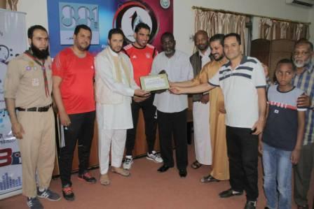 نقابة الإعلاميين الرياضيين طرابلس تكرم أسرة الراحل خالد سلامة