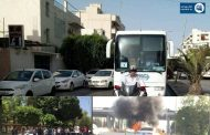 طلبة يقومون بأعمال حرق وتخريب في طرابلس بسبب عدم تمكنهم من الغش..الوزارة وفرت لهم حافلات ووجبات إفطار