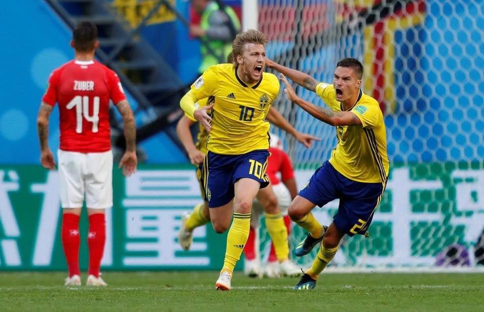السويد تعبر سويسرا صوب ربع نهائي المونديال