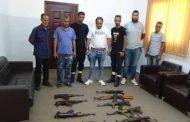 مركز شرطة الصابري ينجح في ضبط مخزن للأسلحة داخل اختصاصه