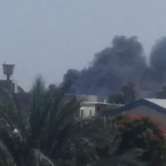 عاجل: حريق بمحيط السفارة الأمريكية في طرابلس