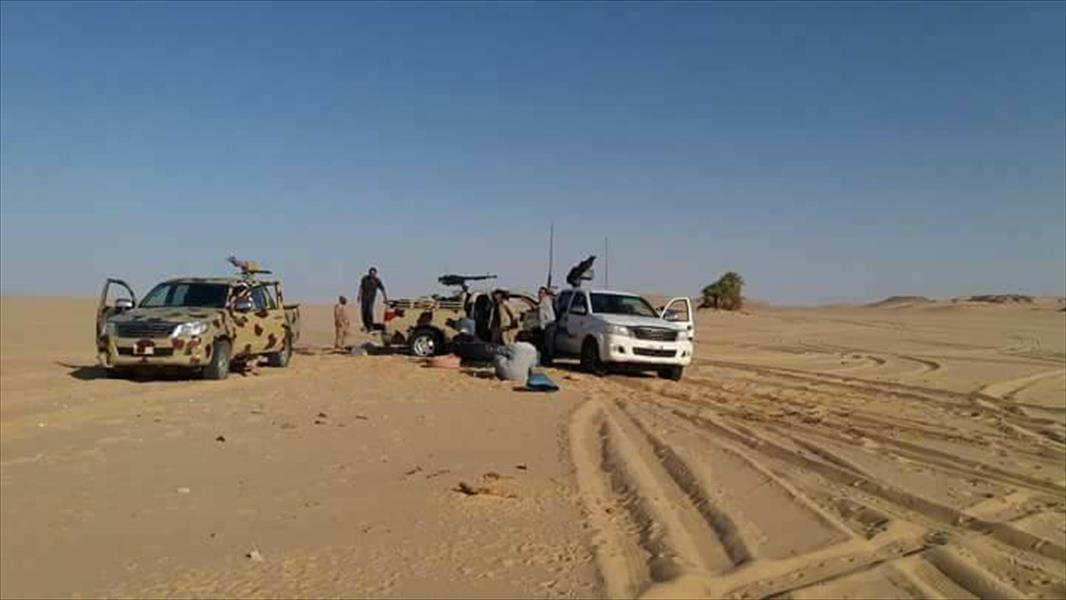 صورة تسيير دوريات عسكرية حول الكفرة لرصد العصابات التشادية