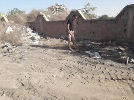 صورة انفجار لغم في منطقة الصابري ولا أضرار بشرية
