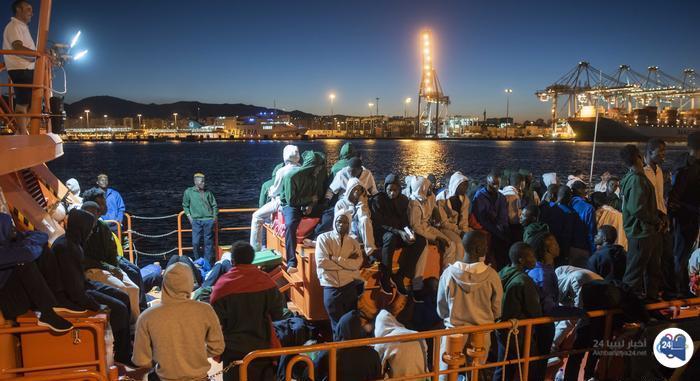 """صورة """"رايتس ووتش"""" تتخوّف من استخدام العنف ضد المهاجرين بميناء مصراتة"""