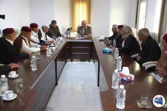 صورة حكماء ومشايخ بنغازي يؤكّدون رفعهم الغطاء الاجتماعي عن الخارجين عن القانون