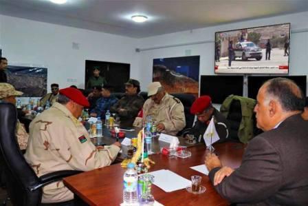 صورة التنسيق بين الداخلية والقوات المسلحة في تأمين مدينة درنة