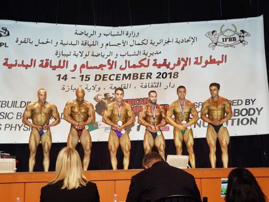 صورة بناء الأجسام الليبية تحصد مراكز متقدمة أفريقيا