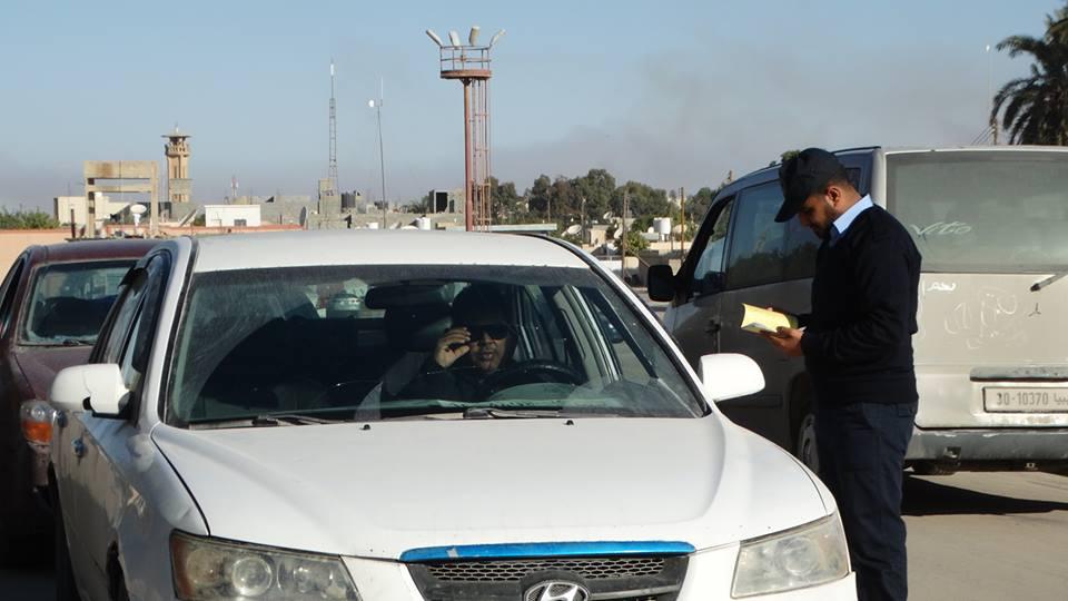 صورة مديرية أمن جالو تقوم بحملة لمتابعة إجراءات السيارات في جالو