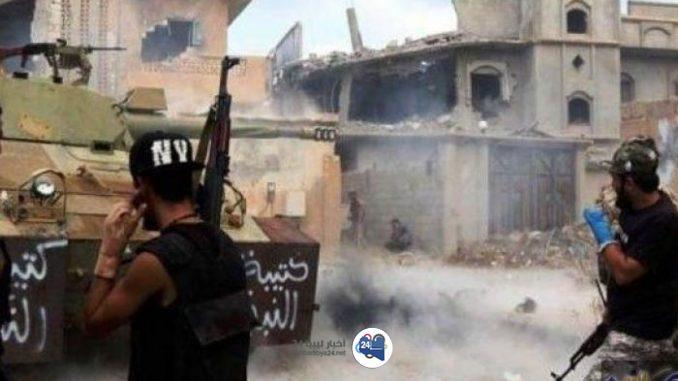 صورة بعد تدخل المجلس الاجتماعي ورفلة .. الاتّفاق على وقف إطلاق النّار جنوب طرابلس