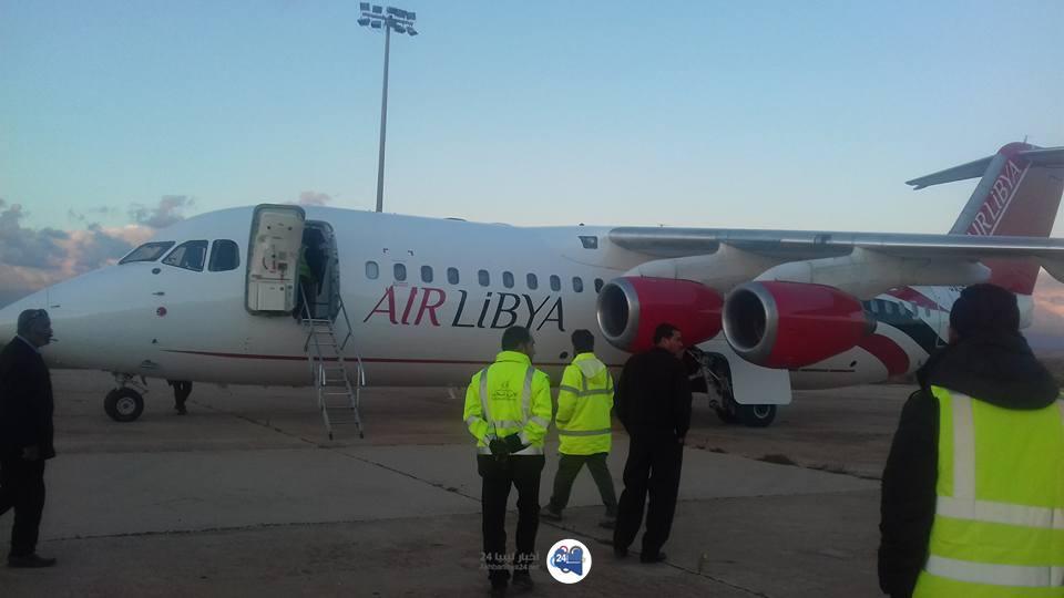 صورة شركة ليبيا للطيران تضمّ طائرة جديدة إلى أسطولِها