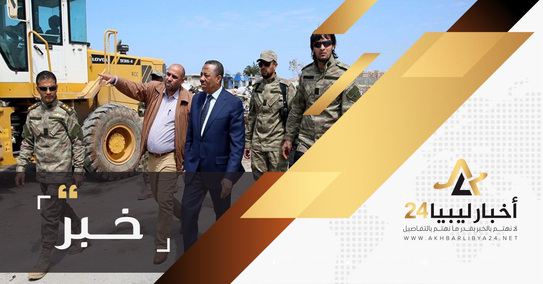 صورة الثني يصدر تعليماته للاهتمام بالمدخل الشرقي لمدينة بنغازي