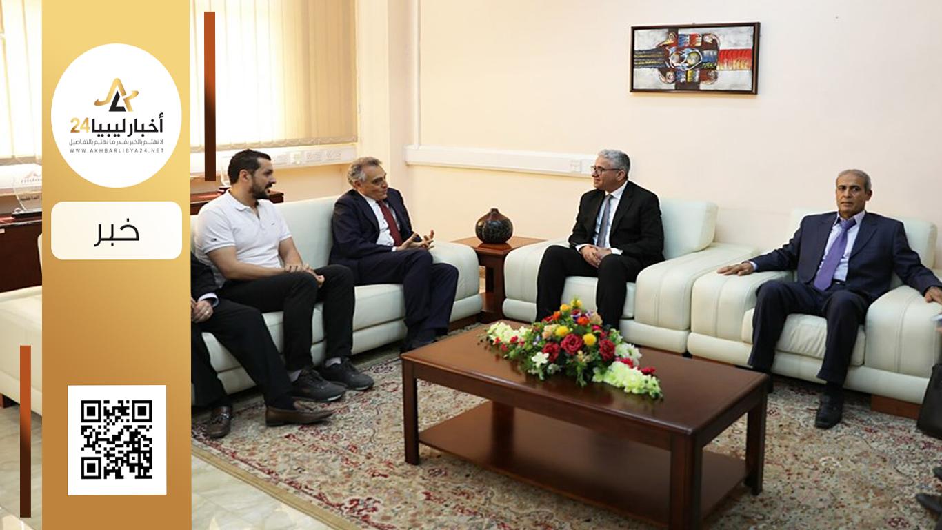 صورة تزامناً مع زيارة حفتر لروما.. باشاغا يبحث مع السفير الإيطالي الأوضاع الأمنية في طرابلس