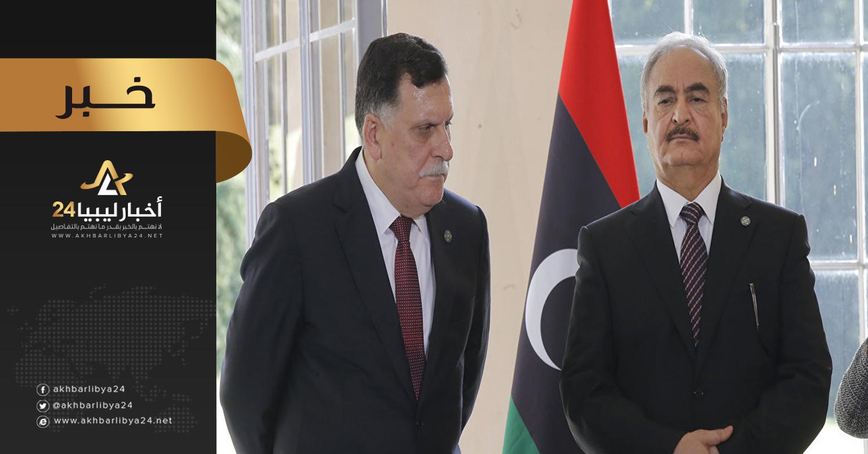صورة السراج: لامجال للتفاوض مع حفتر .. وتقسيم ليبيا خط أحمر