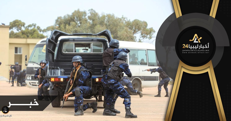 صورة بعد تحريرها من الإرهاب .. بنغازي تشهد تخريج الدفعة الثانية من منتسبي مكافحة الشغب والإرهاب