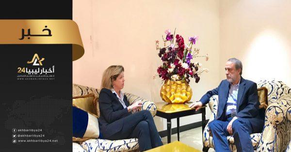صورة السويحلي يؤكد لويليامز موقف حكومة الوفاق بأولوية دحر المعتدين