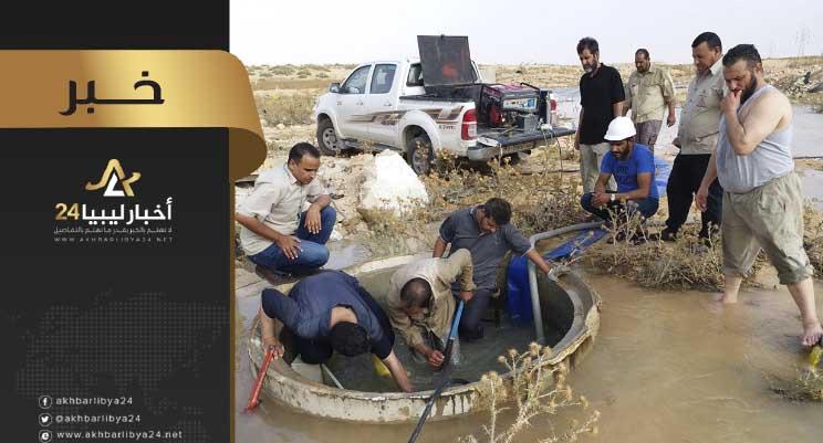 صورة إيقاف ضخ المياه عن مدينة بنغازي (بصفة مؤقتة)