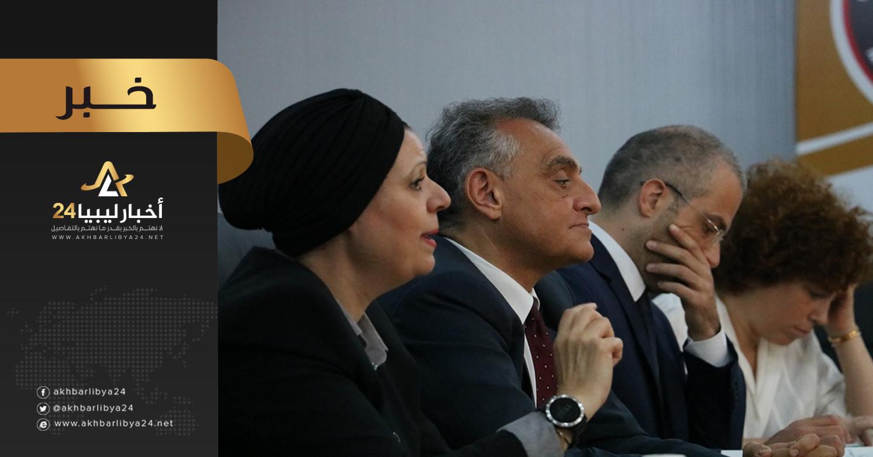 صورة السفير الإيطالي لدي ليبيا يبحث آخر التطورات مع المجلس البلدي مصراتة