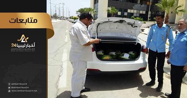 صورة مكتب الشّؤون الزّراعية بمدينة سرت:- محصول البطيخ خالٍ من المواد الضّارة