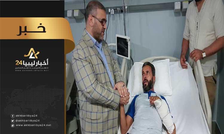 صورة المشري يزور جرحى الوفاق في عدد من المصحات التونسية