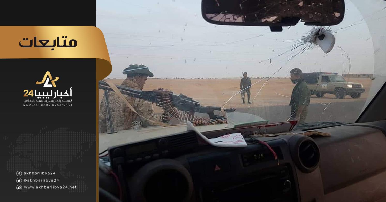 صورة في محاولة منها لإفساد فرح العيد .. قوات الجيش تتصدي للعصابات التشادية في مدينة مرزق