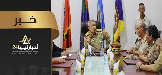 صورة أداء اليمين القانوني لأعضاء جدد بالنيابة العسكرية