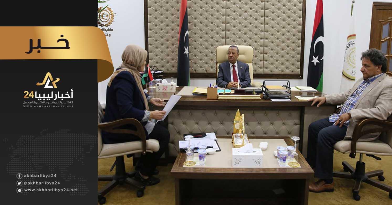 صورة لتصل إلى الحد المستهدف .. الثني يبحث آلية زيادة السعة السريرية لطبي بنغازي
