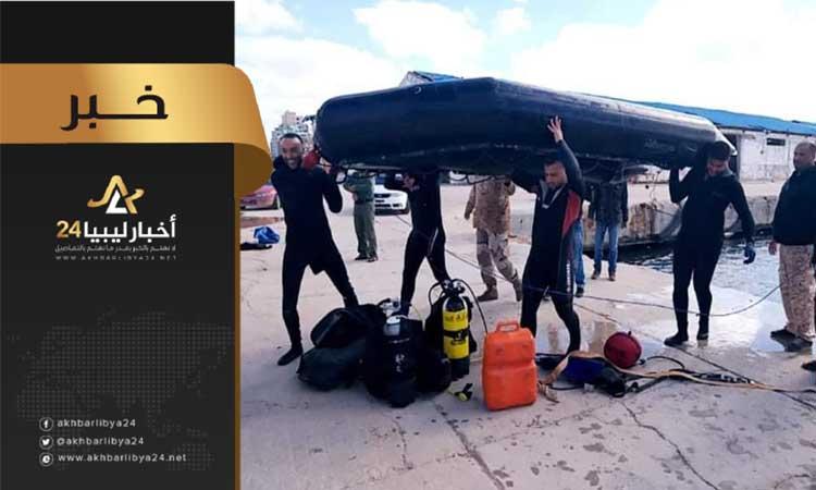 صورة بعد أن لوثه الإرهابيين بالمفخخات .. ميناء بنغازي البحري يعود للحياة
