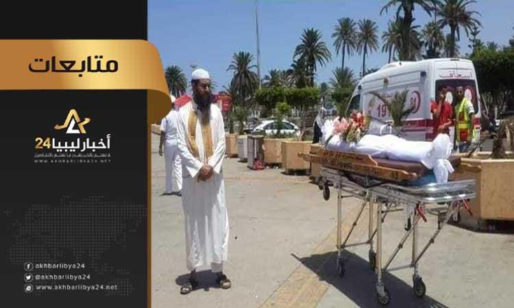"""صورة نشطاء .. أين الجموع التي صلّت على """"القيادات الإرهابية"""" بمباركة الغرياني .. في جنازة شرطي مات من أجل وطنه"""