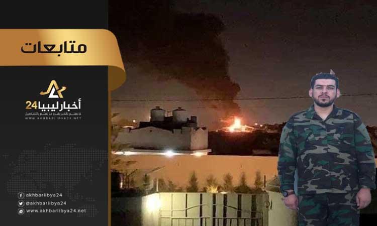 """صورة بعد استهداف القاعدة الجوية مصراتة .. ميليشيا الصمود تهدد بـ""""الرد القاسي"""""""