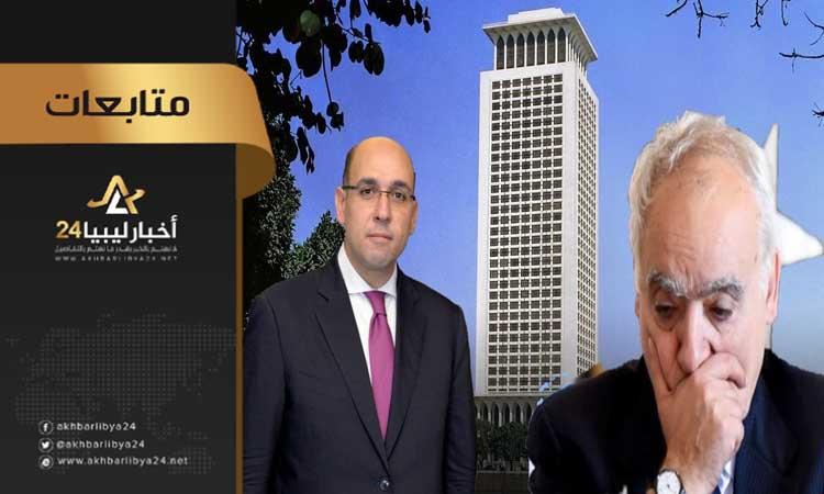 صورة مطالبة البعثة ببلورة خطة للخروج من الأزمة .. الخارجية المصرية تدعو لبدء تسوية شاملة في ليبيا