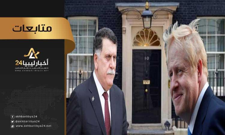 """صورة واضعة الرئاسي في موقف محرج .. رئاسة وزراء بريطانيا تنشر تفاصيل المحادثة الهاتفية بين """" جونسون"""" و""""السراج"""""""